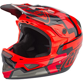 Troy Lee Designs D3 Fiberlite Speedcode Cykelhjelm, red
